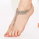 hesapli Ses ve Video Kabloları-Kadın's Ayak bileziği Barefoot Sandalet - Altın Kaplama Bayan, Eşsiz Tasarım, Vintage, Bohem, Punk Mücevher Gümüş Uyumluluk Yılbaşı Hediyeleri Günlük Kumsal