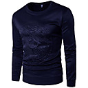 cheap Men's Hoodies & Sweatshirts-Men's Plus Size Basic Long Sleeve Slim Sweatshirt - Solid Colored Round Neck White XL / Fall