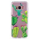ieftine Carcase / Huse Galaxy S Series-Maska Pentru Samsung Galaxy S8 Plus S8 IMD Transparent Model Capac Spate Floare Moale TPU pentru S8 Plus S8