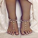 preiswerte Fusskettchen-Damen Künstliche Perle Tropfen Bling Bling Fusskettchen Schmuck Gold / Silber Für Strasse Ausgehen