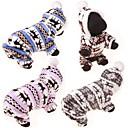 preiswerte Bekleidung & Accessoires für Hunde-Hund Pullover Kapuzenshirts Overall Kleidung für den Winter Hundekleidung Rentier Grau Kaffee Blau Rosa Leopard Baumwolle Kostüm Für