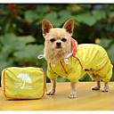 tanie Ubranka i akcesoria dla psów-Psy Płaszcz przeciwdeszczowy Ubrania dla psów Solidne kolory Żółty Fuksja Niebieski Poliester Kostium Na Wiosna i jesień Lato Męskie Damskie Codzienne