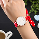 cheap Women's Watches-Women's Wrist Watch Creative / Cool Fabric Band Charm / Luxury / Casual Black / White / Red