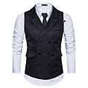 رخيصةأون قمصان رجالي-رجالي أسود أبيض رمادي غامق S M L Vest أسود و أبيض الوحوش المذهلة فانتاستيك بيستس مخطط نحيل / بدون كم / الخريف / الشتاء