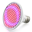 cheap Grow Lights-1pc 6 W / 6.2 W 800-850 lm E26 / E27 Growing Light Bulb 200 LED Beads SMD 2835 Red / Blue 85-265 V / 1 pc / RoHS / FCC