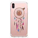 cheap iPhone Cases-Case For Apple iPhone X / iPhone 8 Transparent / Pattern Back Cover Dream Catcher Soft TPU for iPhone X / iPhone 8 Plus / iPhone 8