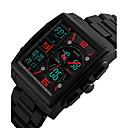 levne Chytré hodinky-Pánské Sportovní hodinky Vojenské hodinky Náramkové hodinky japonština Křemenný Černá 50 m Voděodolné Kalendář Chronograf Analog - Digitál Vintage Na běžné nošení Skládaný - Černá Červená Modrá