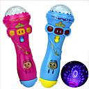 hesapli Dikkat Çarkları-LED Aydınlatma Mikrofon Hudební nástroje hračky Oyuncaklar Yenilik Doğumgünü Aile Parıltılı Aydınlatma Tatil Yeni Dizayn Silgi Çocuklar