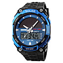 cheap Bracelets-SKMEI Men's Sport Watch Wrist Watch Quartz Black 30 m Water Resistant / Waterproof Alarm Calendar / date / day Analog-Digital Dress Watch - Silver Red Blue / Chronograph / Stopwatch / Noctilucent