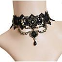 hesapli Kolyeler-Kadın's Sentetik Pırlanta Gerdanlıklar - Dantel Moda Çok güzel Siyah Kolyeler Mücevher Uyumluluk Parti, Sahne
