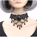 cheap Light Up Toys-Women's Cubic Zirconia Choker Necklace - Zircon, Lace Personalized, Classic Black Necklace For Party, Stage