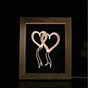 baratos Lâmpada Vela de LED-1 conjunto de luz de noite de humor 3d levou luzes usb quarto moldura de quadro lâmpada presentes coração duplo