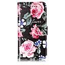 Недорогие Кейсы для iPhone-Кейс для Назначение Apple iPhone X / iPhone 8 Кошелек / Бумажник для карт / со стендом Чехол Цветы Твердый Кожа PU для iPhone X / iPhone 8 Pluss / iPhone 8