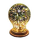 preiswerte Stickers für die Dekoration-1pc 4W 350lm E26 / E27 LED Kugelbirnen A60(A19) 28 LED-Perlen Integriertes LED 3D Feuerwerk sternenklar Dekorativ Mehrere Farben 85-265V