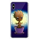 رخيصةأون القلائد-غطاء من أجل Apple iPhone X / iPhone 8 Plus / iPhone 8 شفاف / نموذج غطاء خلفي كارتون / شجرة ناعم TPU