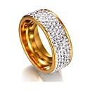 Χαμηλού Κόστους Λαμπτήρες πυράκτωσης-Γυναικεία Band Ring / Eternity Ring Cubic Zirconia / μικροσκοπικό διαμάντι 1 Ασημί / Χρυσαφί Ανοξείδωτο Ατσάλι Geometric Shape κυρίες / Κλασσικό / Βασικό Γάμου / Αποφοίτηση Κοστούμια Κοσμήματα