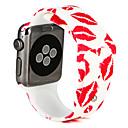 hesapli iPhone Kılıfları-Watch Band için Apple Watch Series 3 / 2 / 1 Apple Spor Bantları Silikon Bilek Askısı
