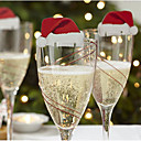 hesapli Ev Dekore Etme-10pcs Yılbaşı Noel Süsler, Tatil Süslemeleri 6*3.6*0.2