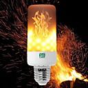 Недорогие LED лампы накаливания-YWXLIGHT® 6W 550-600lm E14 E27 E12 B22 LED лампы типа Корн T 99 Светодиодные бусины SMD 3528 Диммируемая Пламя мерцания Декоративная