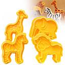 baratos Acessórios & Roupas para Cachorros-Ferramentas bakeware Plásticos Bolo / Biscoito / para Chocolate Desenhos Animados 3D / Animal Cortadores de Massa 4pçs