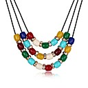 cheap Jewelry Sets-Women's Pendant Necklace - Gold Plated Fashion Rainbow Necklace Jewelry One-piece Suit For Party, Daily