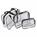 cheap Makeup & Nail Care-3Pcs Cosmetic Bag Set Transparent Beauty Bag Waterproof Handbags Wash Bags Ladies Make Up