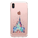 tanie Etui do iPhone-Kılıf Na Apple iPhone X iPhone 8 Przezroczyste Wzór Czarne etui Rysunek Miękkie TPU na iPhone X iPhone 8 Plus iPhone 8 iPhone 7 Plus