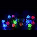 preiswerte Marionetten und Handpuppen-3M Leuchtgirlanden 20 LEDs LED Diode Warmes Weiß / Mehrfarbig 1pc