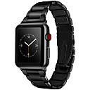 저렴한 애플 시계 밴드-시계 밴드 용 Apple Watch Series 3 / 2 / 1 Apple 나비 버클 스테인레스 스틸 손목 스트랩