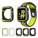 halpa Apple Watch-kuoret-Omena Watch Series 1/2 38 / 42mm naarmuuntumaton joustava kotelo ohut kevyt suojapuskurin suojus Lisää hihnan nauha