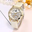 preiswerte Damenuhren-Damen Armbanduhr Chinesisch Armbanduhren für den Alltag PU Band Luxus / Freizeit / Modisch Schwarz / Weiß