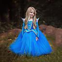preiswerte Halloween Cosplay-Prinzessin Cinderella Märchen Kleid Mädchen Kinder Kleider Weihnachten Maskerade Fest / Feiertage Austattungen Blau / Rosa Einfarbig bezaubernd