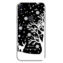 cheap iPhone Cases-Case For Apple iPhone X / iPhone 8 Transparent / Pattern Back Cover Christmas Soft TPU for iPhone X / iPhone 8 Plus / iPhone 8