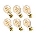 hesapli LED Küre Ampuller-GMY® 6pcs 2.5W 160lm E26 LED Filaman Ampuller A19 2 LED Boncuklar COB Kısılabilir Dekorotif LED Işık Sıcak Beyaz 110-130V