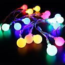 baratos Bijuterias para o Corpo-BRELONG® 4m Cordões de Luzes 28 LEDs LED Dip RGB + Branco Decorativa 220-240 V 1pç