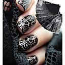 hesapli Makyaj ve Tırnak Bakımı-10 Sevimli Çivi Çıkartması Siyah Solmaya Tırnak Tasarımı Dekorasyonu