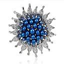 ieftine Broșe-Pentru femei Broșe Floare femei Modă Imitație de Perle Broșă Bijuterii Alb Albastru Închis Albastru Pentru Nuntă Petrecere Mascaradă Petrecere Logodnă Bal Promisiune