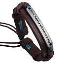 billige Mode Halskæde-Herre geometrisk Læder Armbånd Armbånd Læder Simple Klassisk Hip-hop Armbånd Smykker Brun Til Skole Stævnemøde
