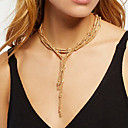 cheap Earrings-Women's Chain Necklace - Gold, Silver Necklace Jewelry For Daily, Street