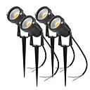hesapli PS4 Aksesuarları-4adet 4 W LED Yer Işıkları / Çimen Işık Su Geçirmez / Yeni Dizayn / Dekorotif Sıcak Beyaz / Serin Beyaz / Kırmızı 85-265 V / 12 V Açık Hava Aydınlatma / Avlu / Bahçe