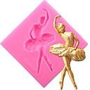 رخيصةأون خواتم-راقصة سيليكون كعكة قوالب الرقص فتاة أدوات تزيين فندان الحلوى الطين