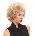 cheap Makeup & Nail Care-Synthetic Wig Curly Style With Bangs Capless Wig Blonde Blonde Synthetic Hair With Bangs Blonde Wig Short Natural Wigs