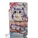 hesapli Küpeler-Pouzdro Uyumluluk Samsung Galaxy J5 (2017) J3 (2017) Kart Tutucu Cüzdan Satandlı Flip Manyetik Temalı Tam Kaplama Kılıf Baykuş Sert PU
