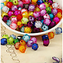 hesapli Boncuklar-DIY Mücevherat 500 adet Koraliki Arkilik Gökküşağı Dörtgen boncuk 1 cm DIY Kolyeler Bilezikler