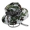 ieftine Pălării, Șepci & Bandane-Καπέλο πεζοπορίας Boonie pălărie Pălării Wide Brim Cremă Cu Protecție Solară Rezistent la UV camuflaj Bumbac Primăvară pentru Bărbați Pentru femei Vânătoare Pescuit Alpinism Verde