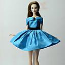 hesapli Bilezikler-Elbiseler Elbise İçin Barbie Bebek Mavi Poli / Pamuk Elbise İçin Kız Oyuncak bebek