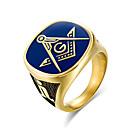 ieftine Ceasuri Bărbați-Bărbați Band Ring - Modă 8 / 9 / 10 / 11 / 12 Auriu Pentru Muncă Birou și carieră