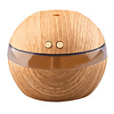 cheap Smart Lights-YK30 Mini Portable Mist Maker Aroma Essential Oil Diffuser Ultrasonic Aroma Humidifier Light Wooden USB Diffuser