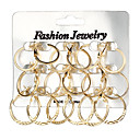 cheap Home Decoration-Women's Hoop Earrings - Korean, Oversized Gold / Silver For Daily / Evening Party