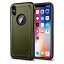Недорогие Кейсы для iPhone-Кейс для Назначение Apple iPhone X iPhone 8 Защита от удара Кейс на заднюю панель Сплошной цвет Твердый ПК для iPhone X iPhone 8 Pluss
